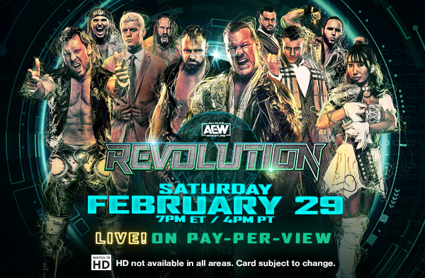 AEW Revolution banner on pay per view: February 29